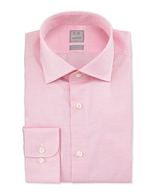 Ike Behar Textured Solid Dress Shirt