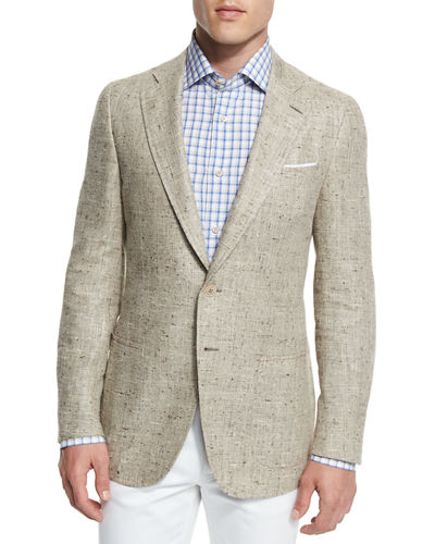 Isaia Gregory Summer Donegal Two-Button Sport Coat