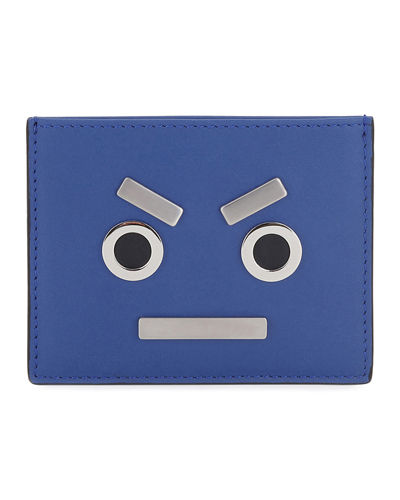 Fendi Face Leather Card Case