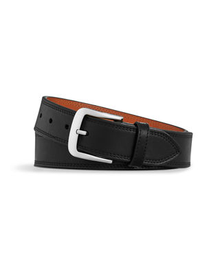 Image 1 of 3: Men's Essex Double Stitch Leather Belt