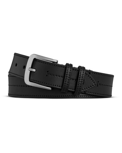 Men's Bridle Center Stitch Leather Belt