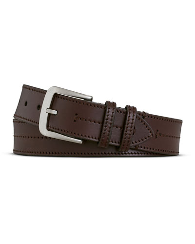Bridle Center Stitch Leather Belt