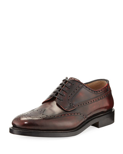 Salvatore Ferragamo Leather Wing-Tip Shoe
