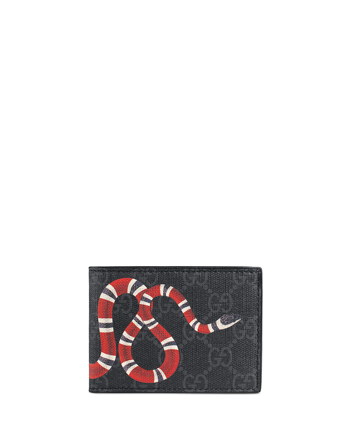 cfc7c435c40 Gucci Bestiary Snake-Print GG Supreme Wallet