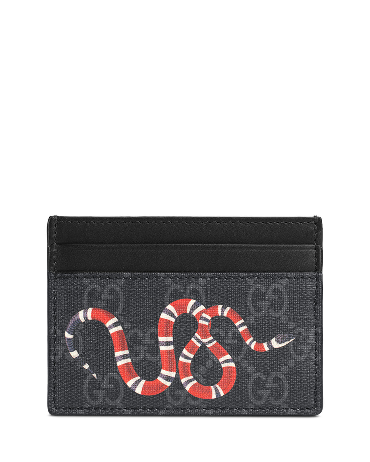 a629b72143f1 Gucci Bestiary Snake-Print GG Supreme Card Case | Neiman Marcus