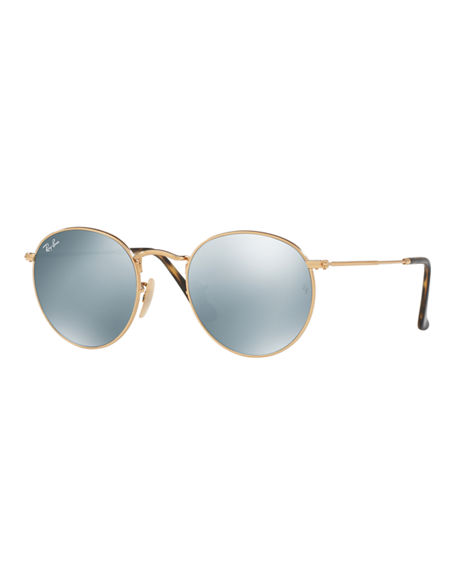 Ray Ban Sunglasses ICONS ROUND FLASH SUNGLASSES
