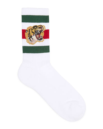 Stretch-Cotton Socks w/Tiger