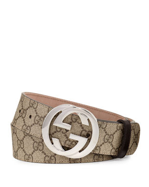 a4e81c0d3bd Gucci GG Supreme Belt w Interlocking G