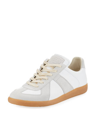 Image 1 of 4: Replica Leather & Suede Low-Top Sneaker