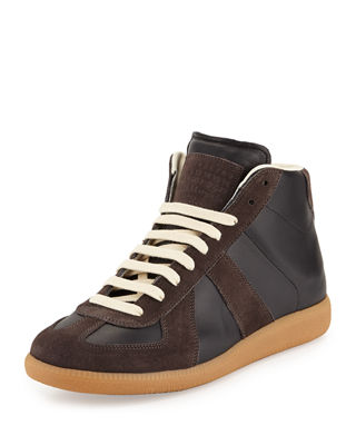 Image 1 of 4: Replica Mid-Top Leather & Suede Sneaker
