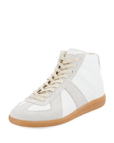 Men's Replica Mid-Top Leather & Suede Sneakers