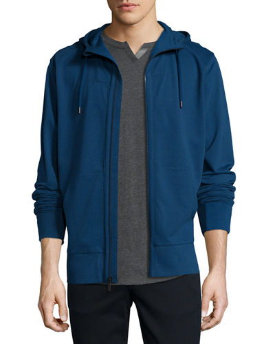 French Terry Front-Zip Hoodie