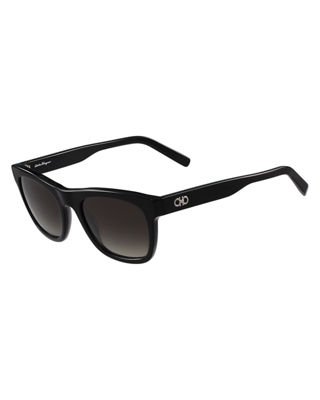 Salvatore Ferragamo Men's Gancini Square Acetate Sunglasses