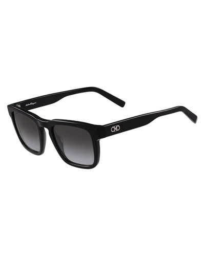 Salvatore Ferragamo Gancini Square Acetate Sunglasses