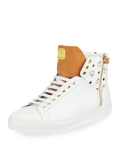 Men's Collection Leather High-Top Sneakers