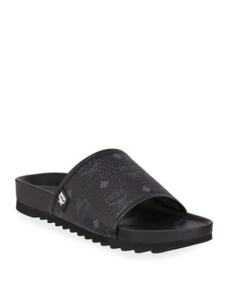 MCM Men's Visetos Slide Sandal