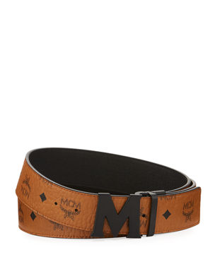 71339cc55 MCM Visetos Reversible Matte-Buckle Belt