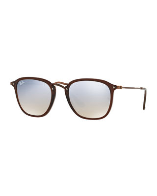 Men's Square Gradient Flash Sunglasses