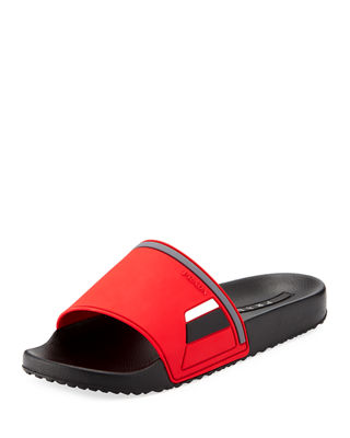 Prada Men's Colorblock Rubber Slide Sandal