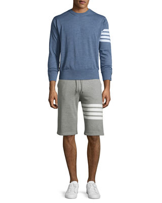 Image 3 of 3: Classic Striped-Leg Sweat Shorts