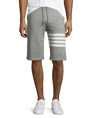 Image 1 of 3: Classic Striped-Leg Sweat Shorts