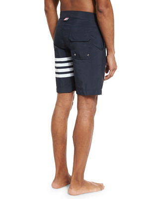 Image 2 of 3: 4-Bar Striped Board Shorts