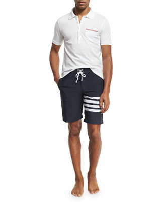 Image 3 of 3: 4-Bar Striped Board Shorts