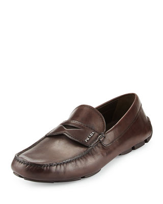 Image 1 of 4: Calf Leather Driving Loafer