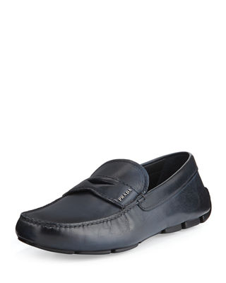 Prada Calf Leather Driving Loafer