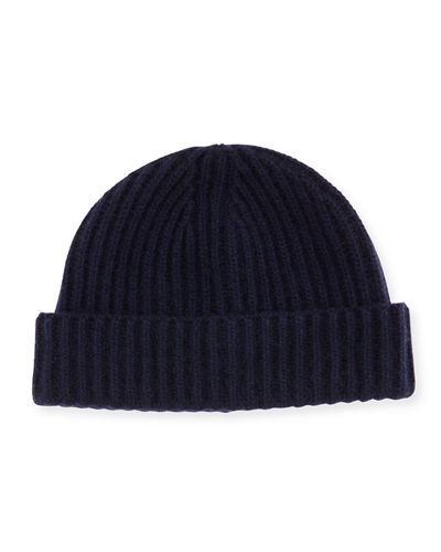 3a2466c4bd9 Cashmere Ribbed Knit Hat