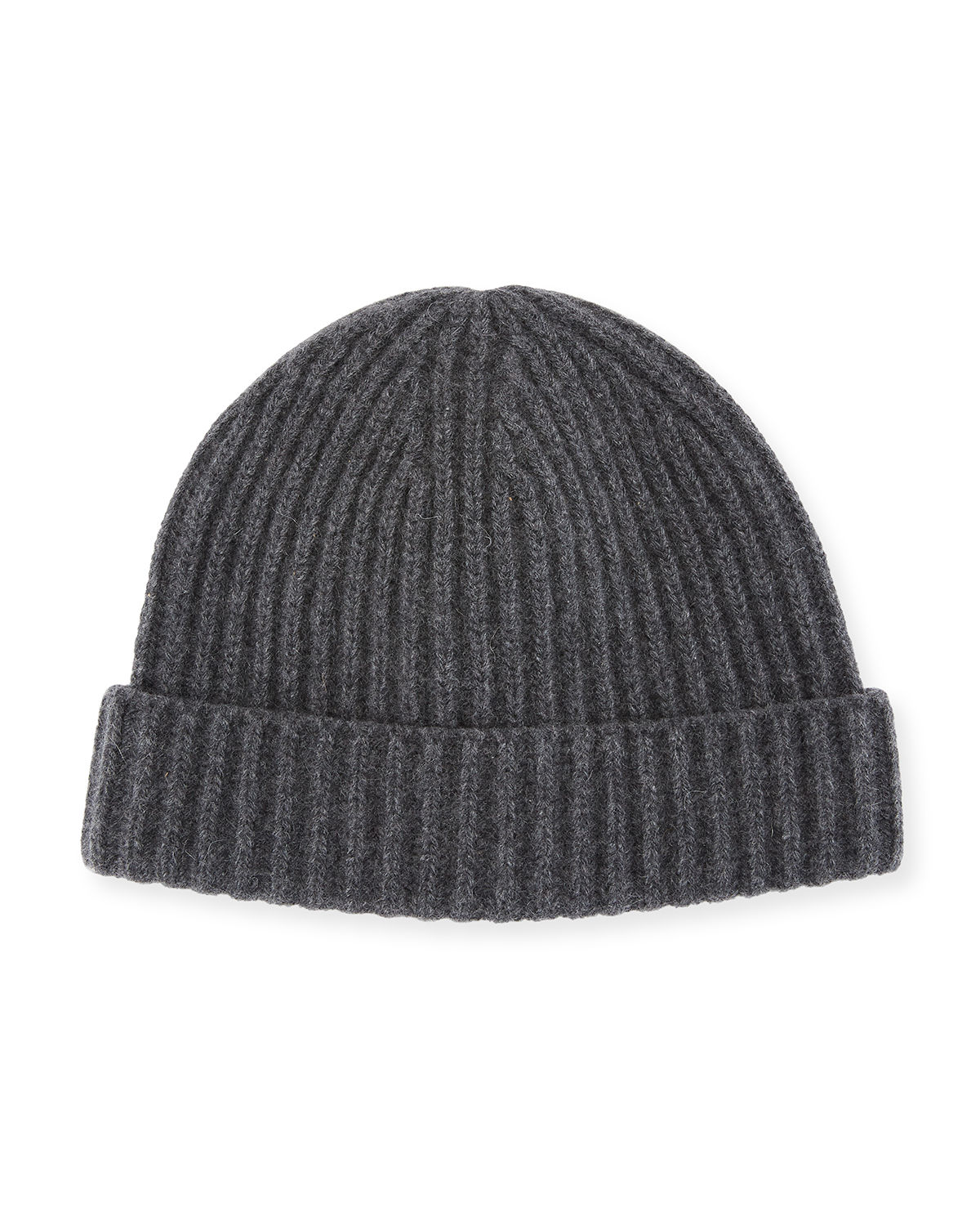 a393968847ace Portolano Men s Ribbed Cashmere Beanie Hat