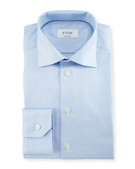Image 1 of 4: Eton Contemporary-Fit Cavalry Twill Dress Shirt