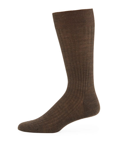 Pantherella Solid Wool Half-Calf Socks