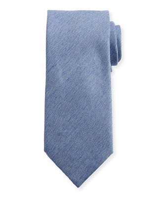 Brioni Heathered Herringbone Silk Tie