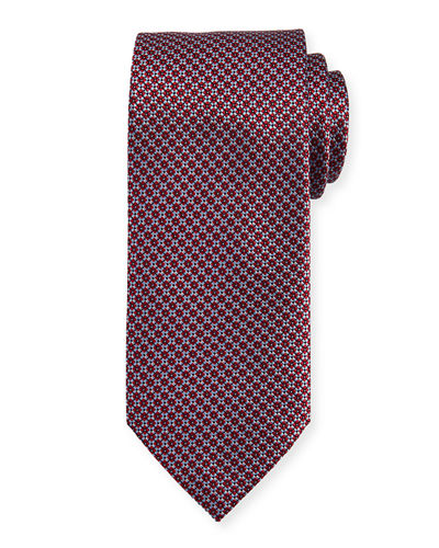 Textured Diamond Neat Silk Tie