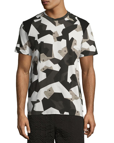 MCM x CR Collection Splinter Camo Visetos T-Shirt
