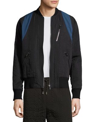 Image 1 of 4: x CR Collection Quilted Bomber Jacket