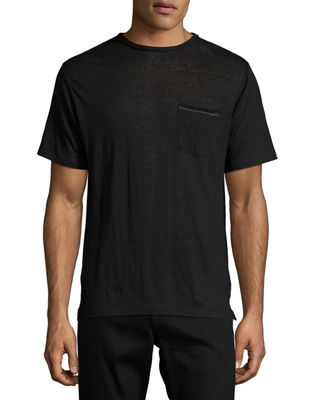Rag & Bone Men's Owen Cotton Pocket Crewneck