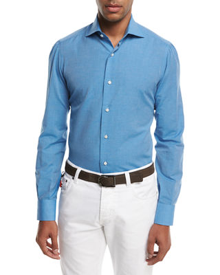 Image 1 of 2: Cotton-Linen Sport Shirt