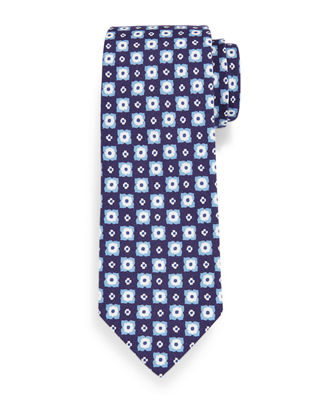 Printed Flower Medallion Tie