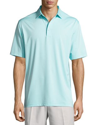 Image 1 of 5: Crown Sport Solid Stretch Jersey Polo Shirt