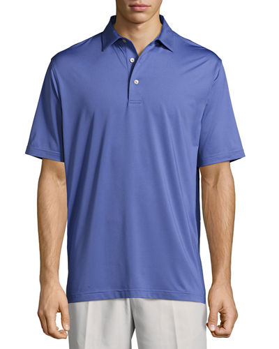 Crown Sport Solid Stretch Jersey Polo Shirt