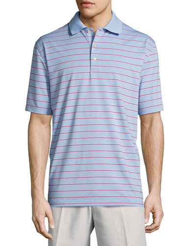 Peter Millar Tradeshow Striped Stretch-Jersey Polo Shirt