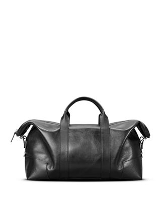 Large Leather Carryall Duffel Bag