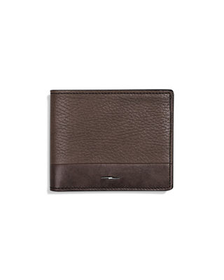 Image 1 of 3: Men's Bolt Leather Bi-Fold Wallet