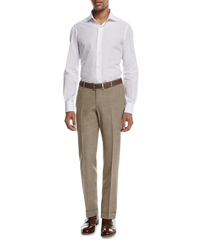 Sanita Mélange Linen-Look Cotton Trousers