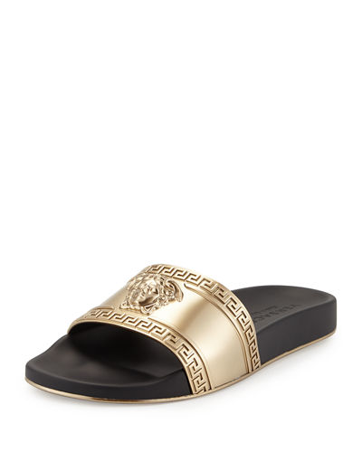 55b4a43f7879 Versace Men s Medusa-Head Slide Sandal