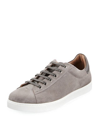 Gianvito Rossi Men's Suede Low-Top Sneaker