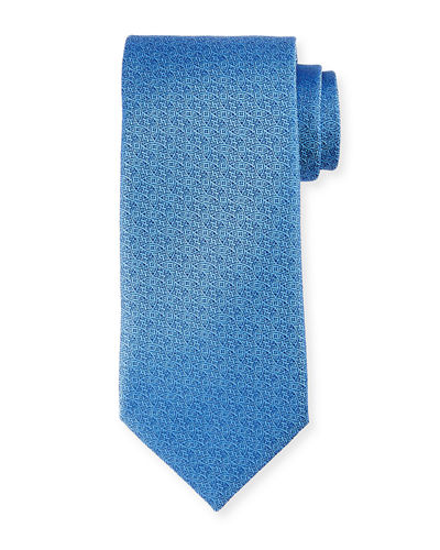 Charvet Neat Interlocking Silk Tie