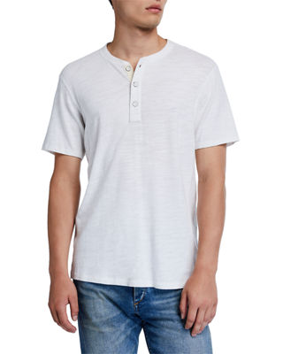 Image 1 of 2: Men's Standard Issue Short-Sleeve Henley T-Shirt